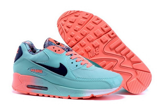 WMNS Air Max 90 Running Shoes Blue/Black Red